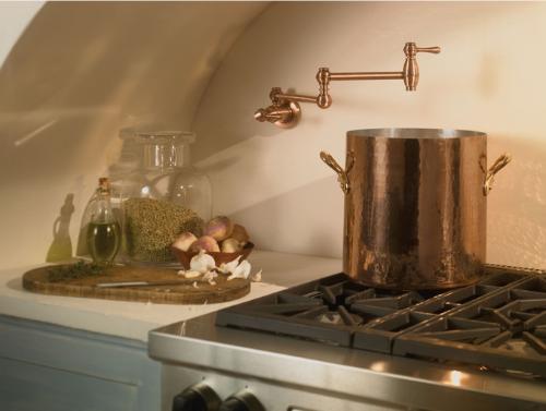 Danze Pot Filler from the traditional Opulence line. Photo Source: Danze, Inc.
