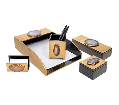 Agate Desk Set