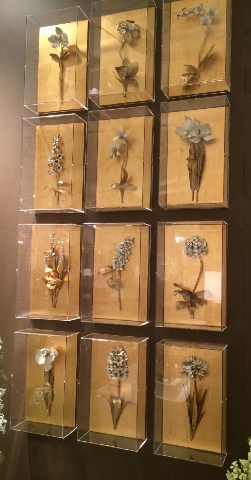 Tommy Mitchell Gilded Floral Sculpture High Point Market Fall 2014 Design Connection Inc Kansas City Interior Design
