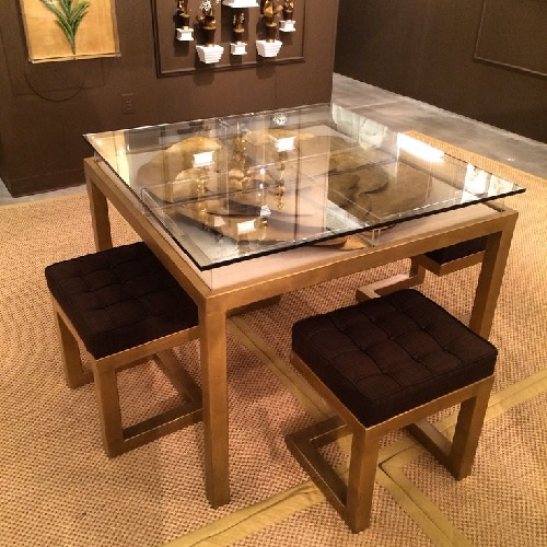 Tommy Mitchell Gilded Square Table High Point Market Fall 2014 Design Connection Inc Kansas City Interior Design