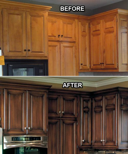 Before and After Faux Paint Kitchen Cabinets Design Connection Inc Kansas City Interior Design Blog