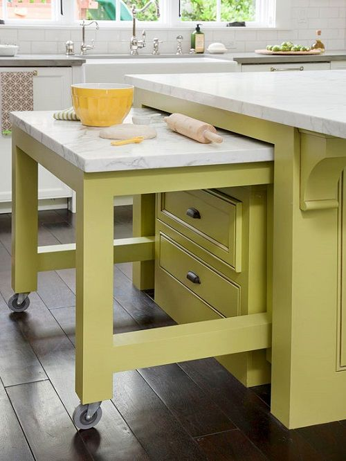 Hidden Cart in Kitchen Island Design Connection Inc Kansas City Interior Design Blog