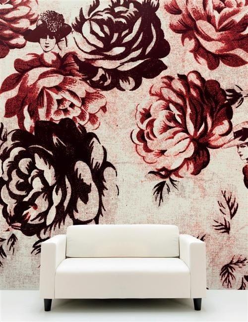 Pantone Marsala Flower Wallpaper Design Connection Inc Kansas City Interior Design