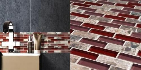 Tessera Subway Bordeaux Glass Stome Mosaic Backsplash Pantone Marsala Design Connection Inc Kansas City Interior Design Blog