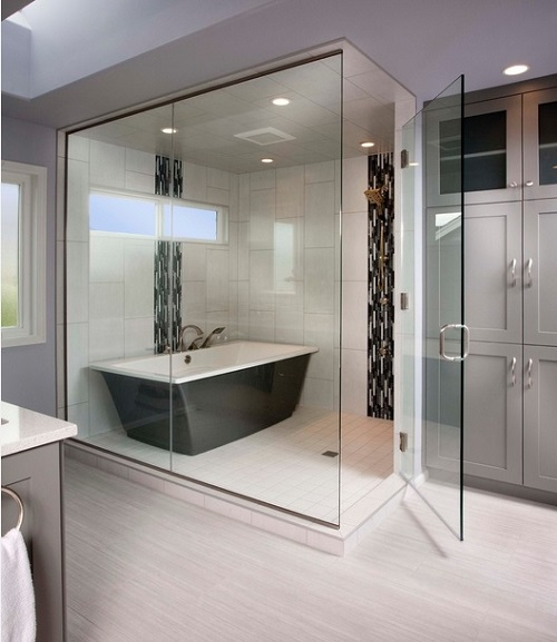 Freestanding Bath Enclosed Shower Design Connection Inc Kansas City Interior Design Blog