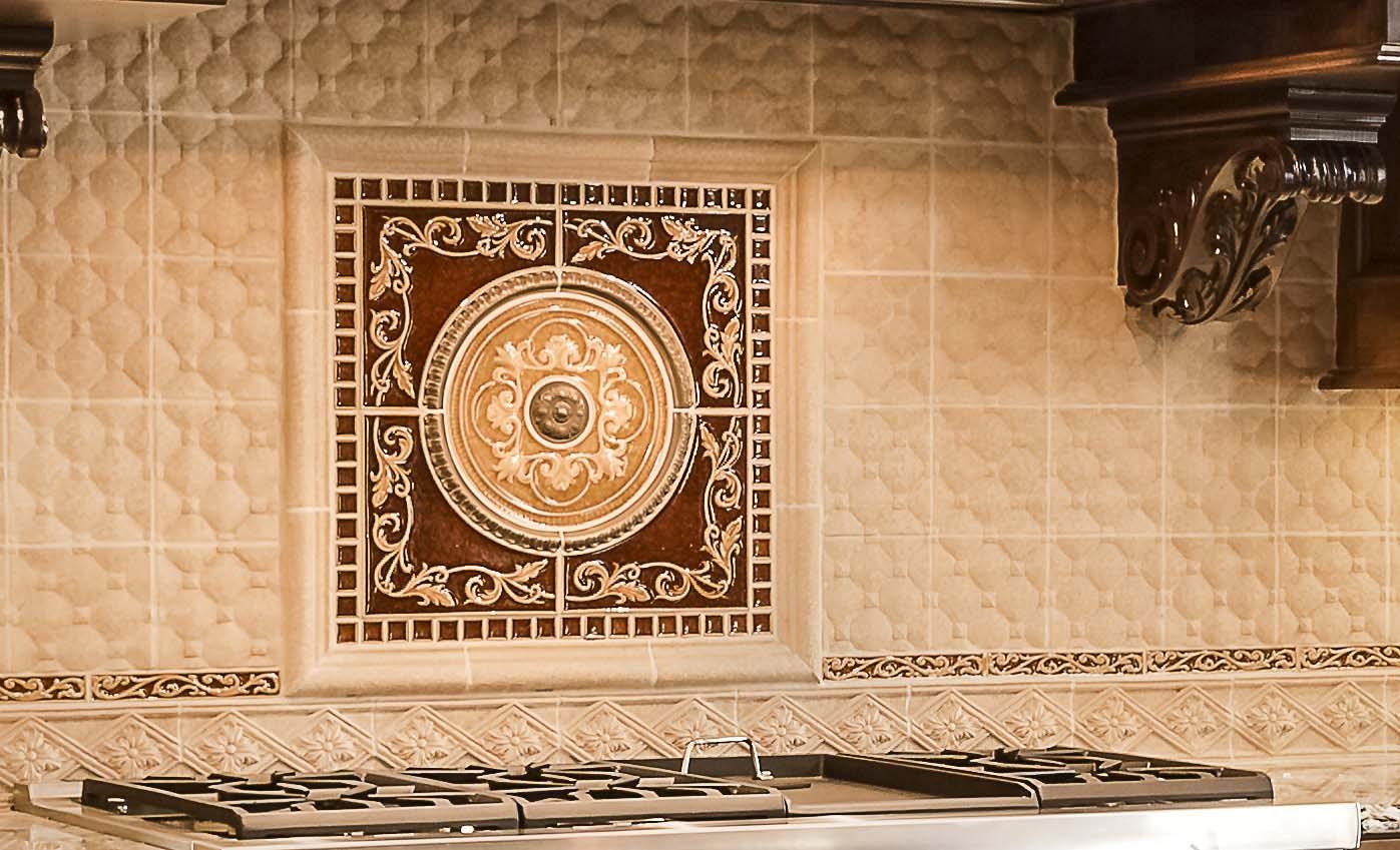 Italian Tile Backsplash Kitchen Design Connection, Inc.