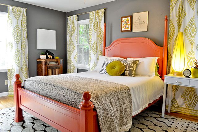 Coral Reef and Chartruse Bedroom 1 Design Connection Inc