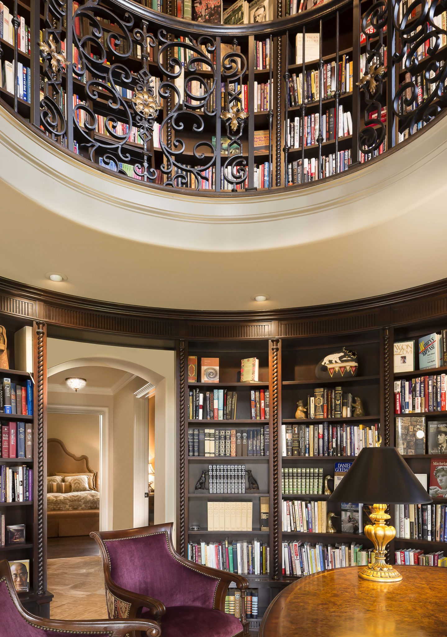 Round Library Design Connection Inc Kansas City Interior Designer
