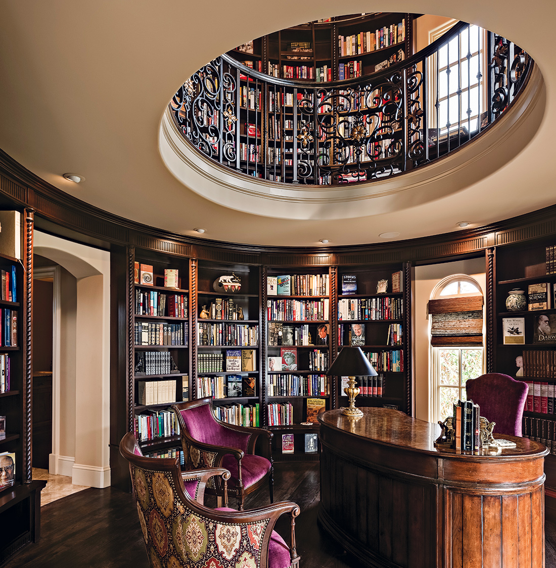 Round Library KC Design Connection Inc Kansas City Interior Design