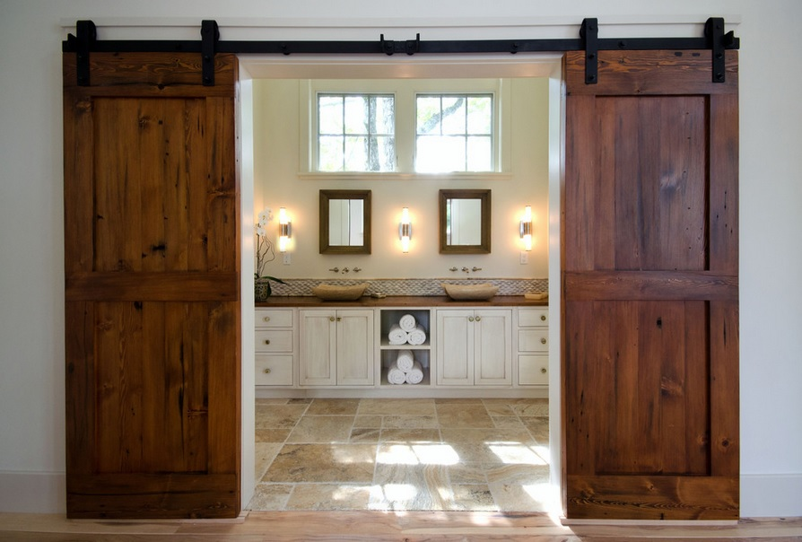 Barn Door Bathroom Design Connection Inc Kansas City Interior Design