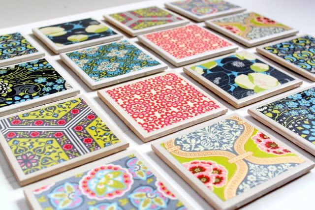 DIY Scrapbook Drink Coasters Kansas City Interior Designer