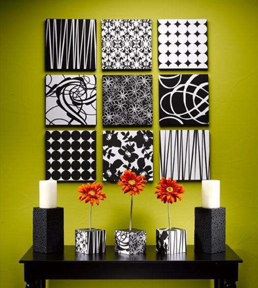DIY Scrappaper wall art Design Connection Inc Kansas City Interior Designer