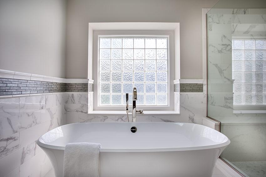 Modern Master Bathroom Freestanding Tub