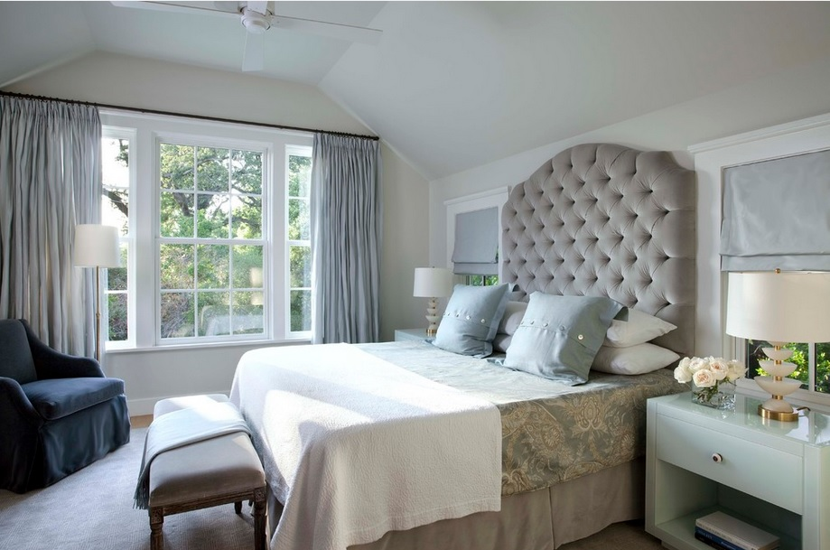Tufted Headboard Kansas City Interior Designer Design Connection Inc