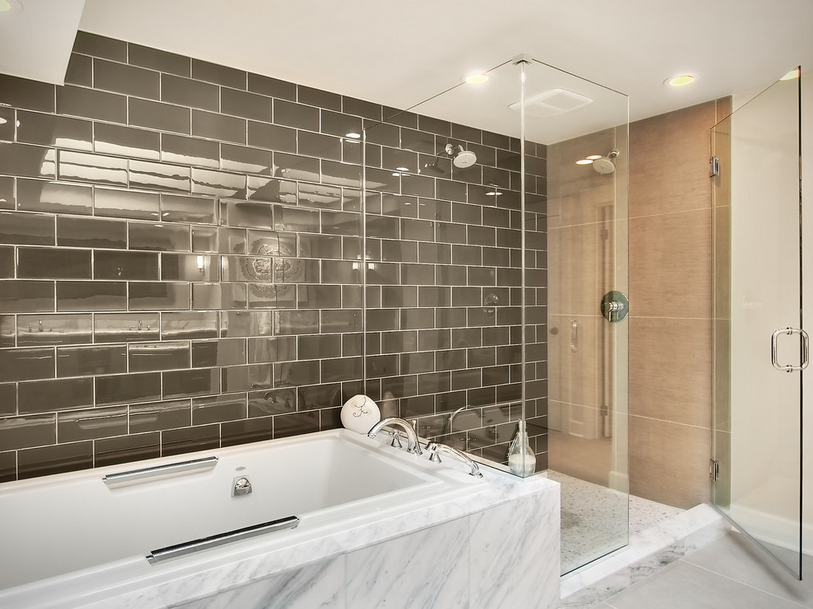 Grey Glass Subway Tile Interior Design Blog Kansas City