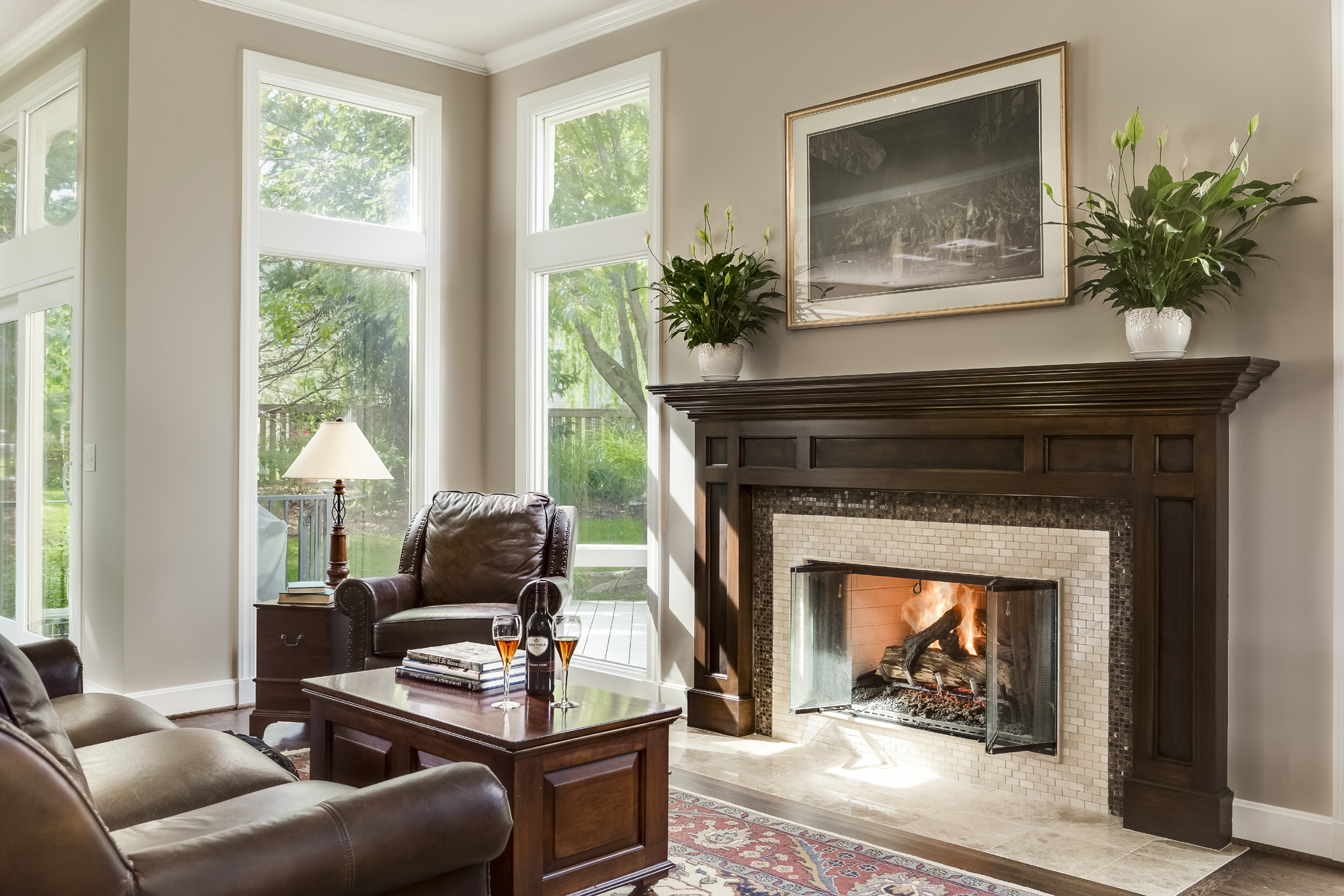 Fireplace Before and After Kansas City Interior Designer