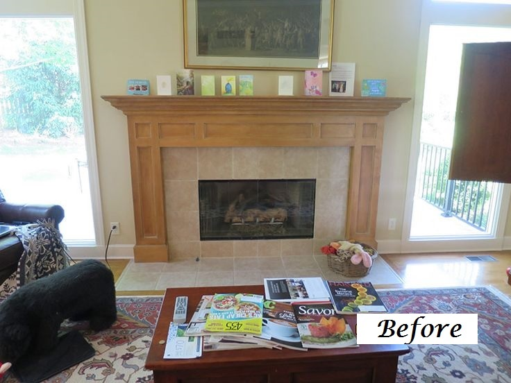 Before Fireplace Kansas City Interior Designer