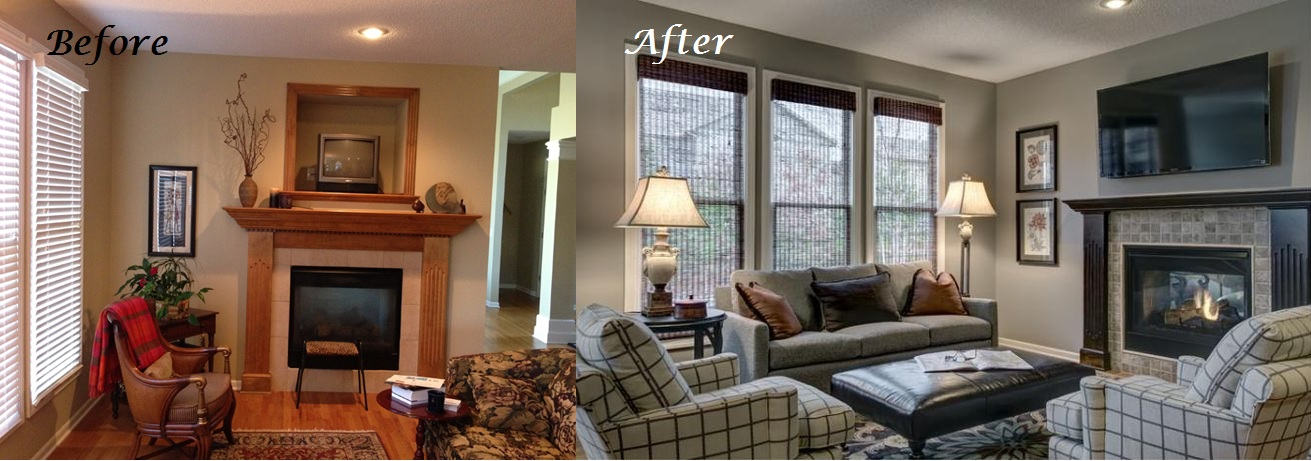 Before and After Fireplace 3 Kansas City Interior Designer