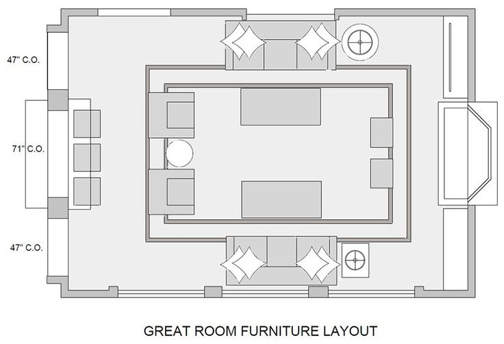Great Room Space Plan Design Connection Inc
