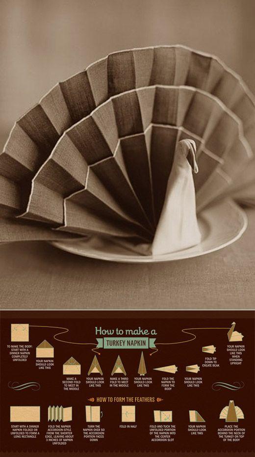 How to fold a Turkey Napkin Kansas City Interior Design Blog Design Connection Inc