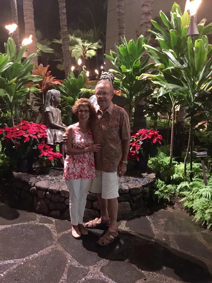 Arlene and Ed Ladegaard Hawaii 2015