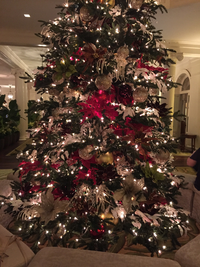 Christmas Tree at The Moana Surf Rider Hotel in Honolulu