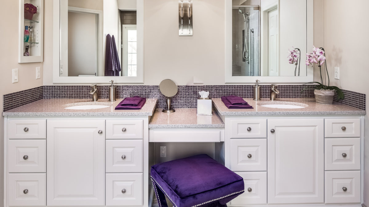 1980 S Bathroom Gets Elegant Makeover A Design Connection Inc Featured Project Design Connection Inc