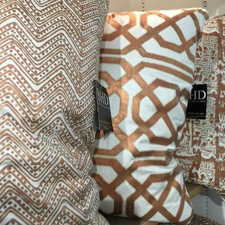 Gold Geometric Pillow 2016 Interior Design Trends