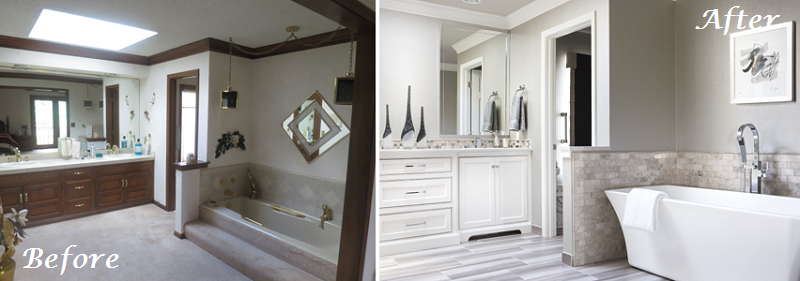 Before and After Bath Remodel DCI