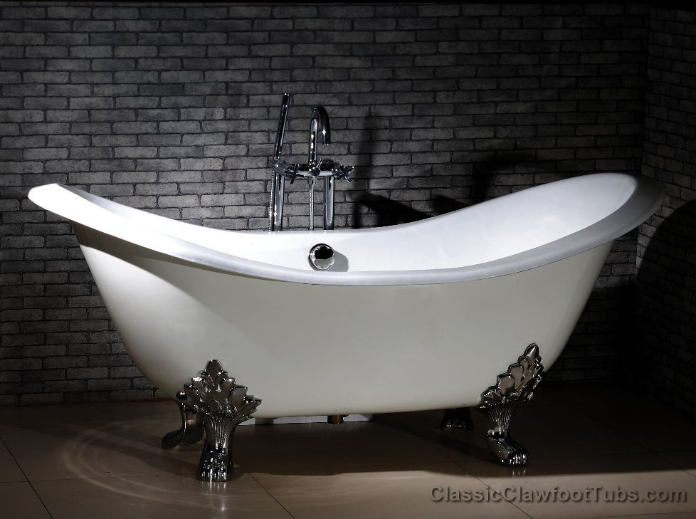 Classic Claw Foot Tub Double SLipper