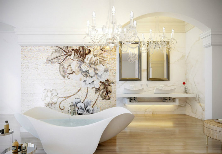 Petal Freestanding tub with slide