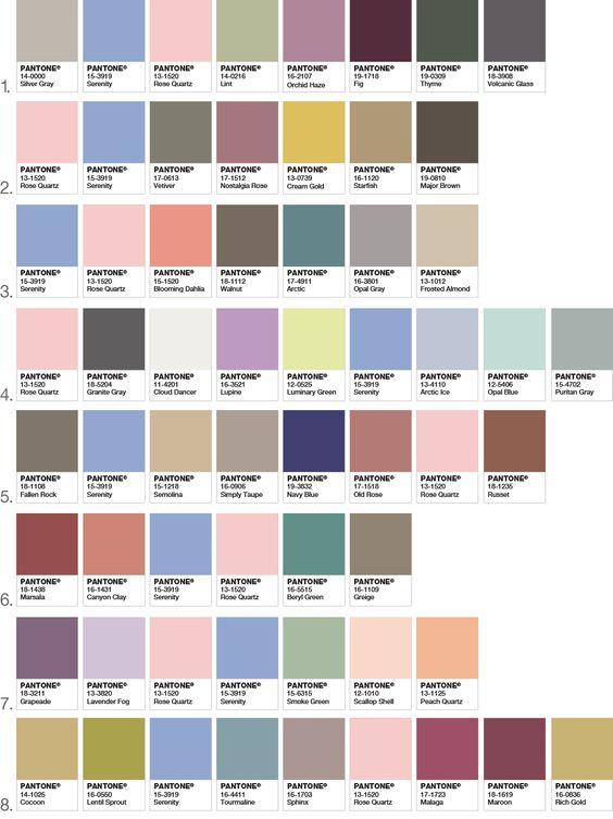 Pantone 2016 Color Combos