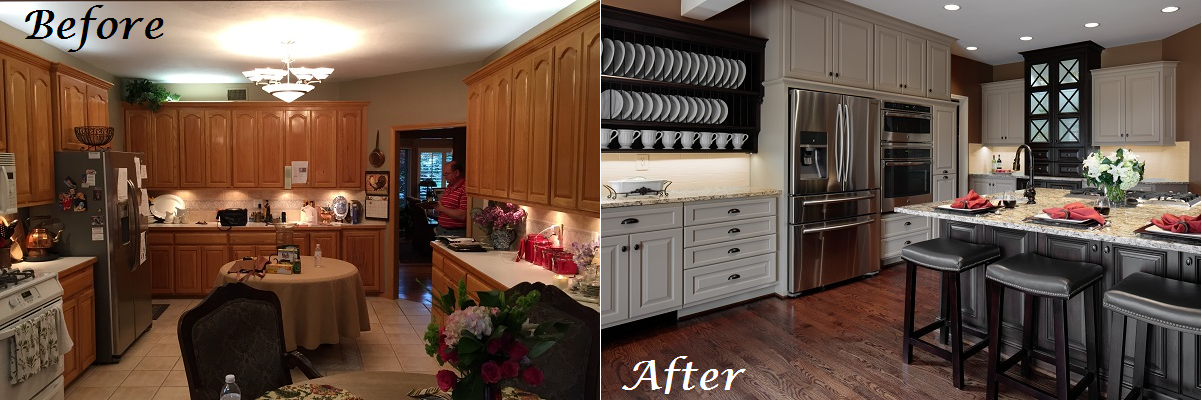 Before and After Kitchen 2016 Design Connection Inc Kansas City Interior Design